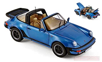 NOREV NV187663 Porsche 911 Turbo Targa 1987 Blue Metallic 1:18 Die Cast Model: Amazon.es: Juguetes y juegos