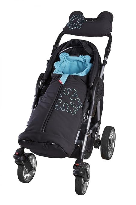 Farbe:Braun//Beige ByBoom/® Softshell Winterfu/ßsack Thermo Aktiv f/ür Kinderwagen und Buggy