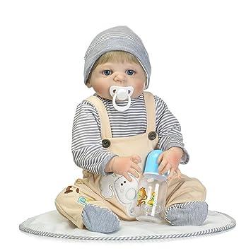 Decdeal 22 Pulgadas Reborn Bebé Muñeca,con Botella de ...