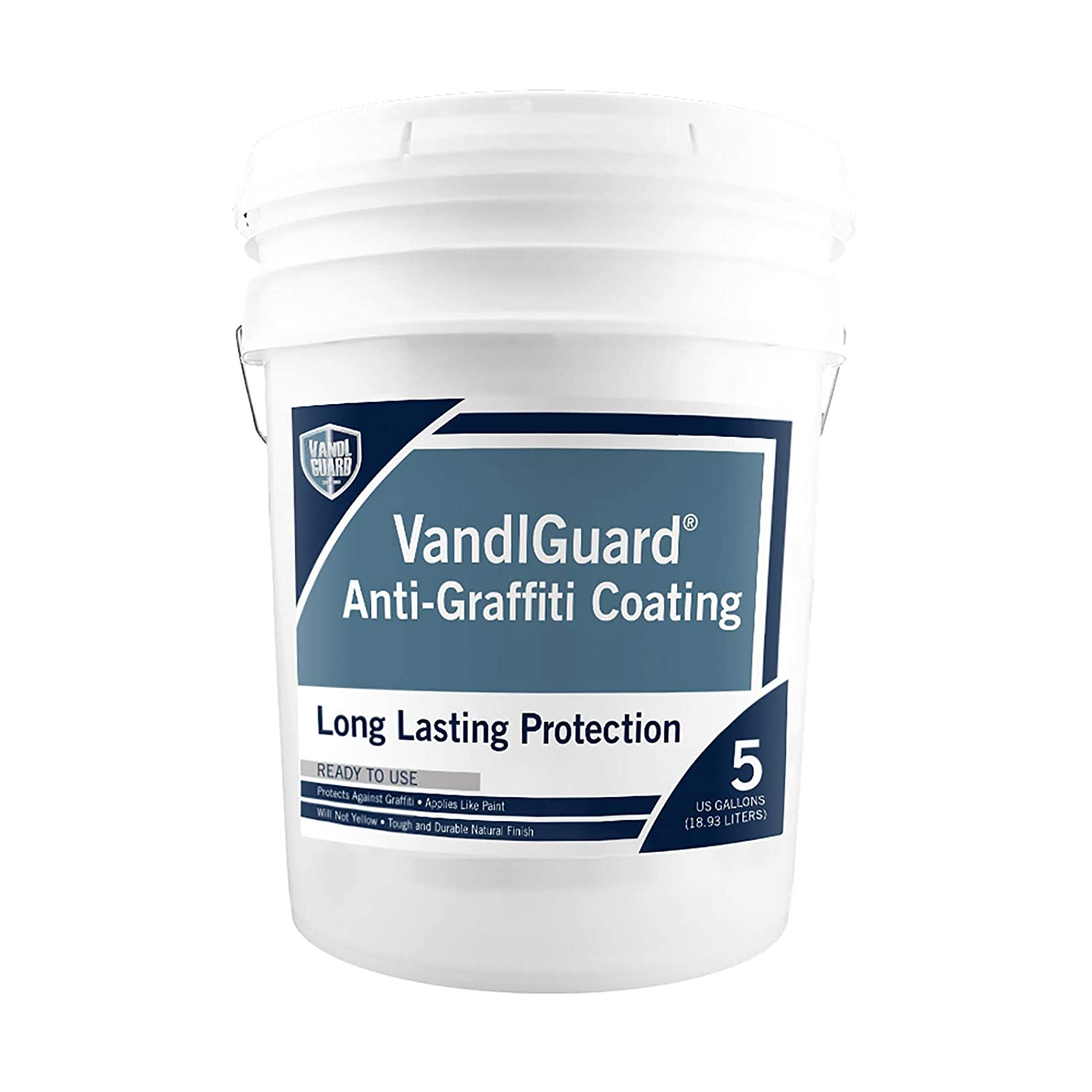 Rain Guard Water Sealers VG-7000 VandlGuard Non-Sacrificial Anti-Graffiti Coatings READY TO USE covers up to 1500 sq. on painted and unpainted surfaces. 5 Gallon – Graffiti Protection