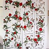 Greentime Artificial Flowers Velvety Rose Garland