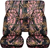 Camouflage Car Seat Covers: Pink Real Tree Camo - Semi-cu...