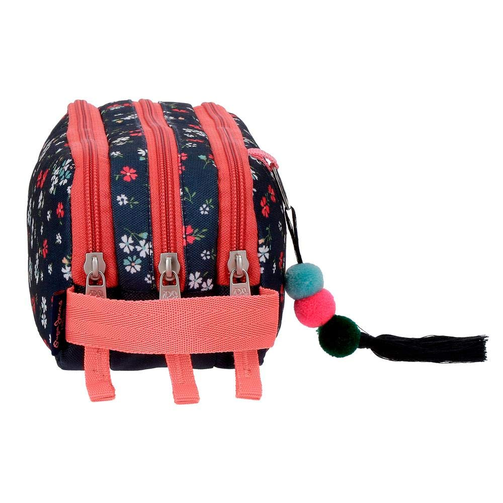 Pepe Jeans Jareth Carry All Three Compartments Coin Pouch 22 cm 1.98 Liters Multicolour