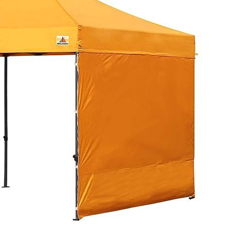 ABCCANOPY 15+Colors 10' Sun Wall 10'x 10' Straight Leg pop up Canopy Tent,  10' Sidewall kit (1 Panel) Truss Straps, (Gold)
