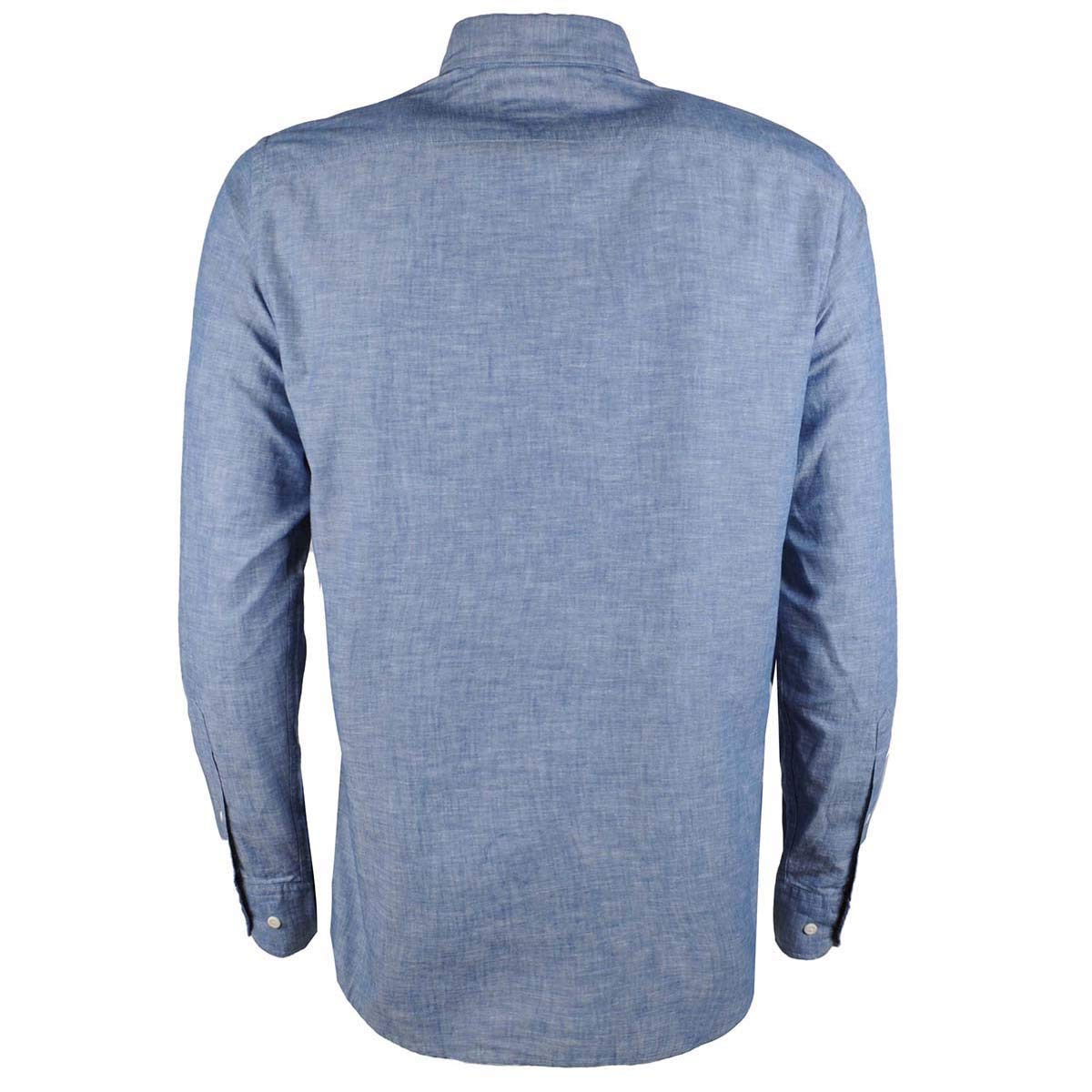 7a433235 Tommy Hilfiger Men's Regular Fit Chambray Flag Patch Shirt Indigo XL:  Amazon.co.uk: Clothing