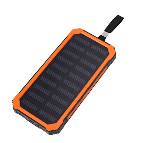 Amazon.com: hongfei Cargador Solar 8000 mAh Portable Power ...