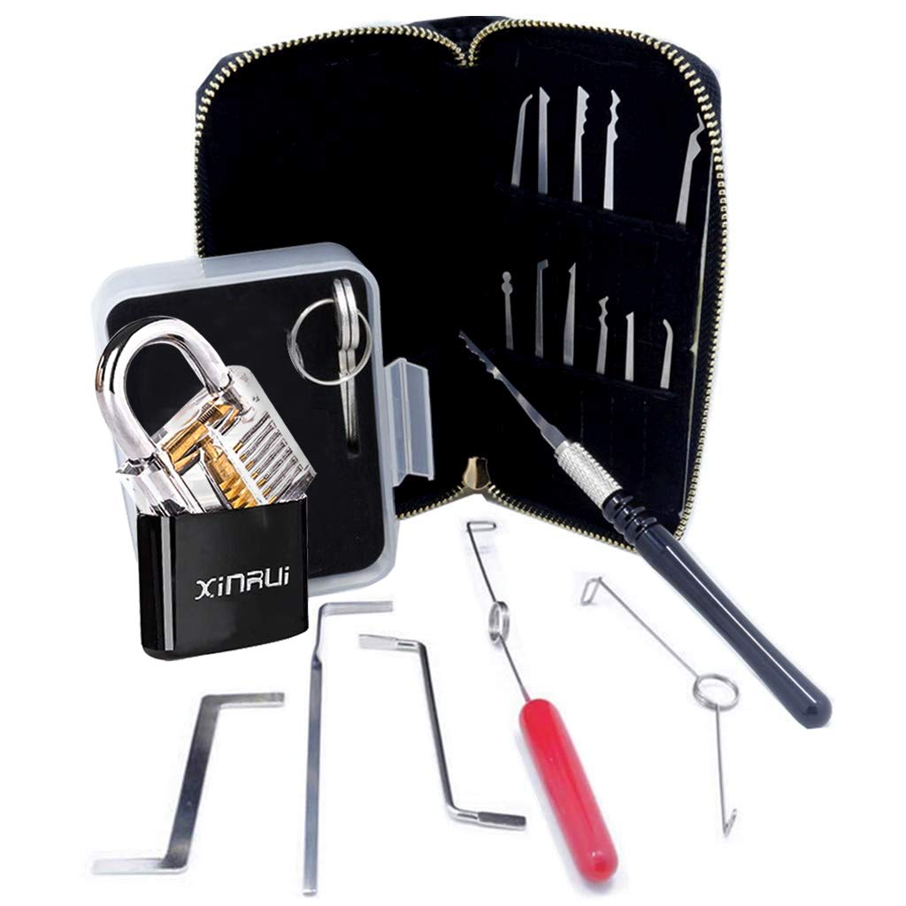 Xinrui Strong Pick and Hook Set,18-Piece(Lock Included)