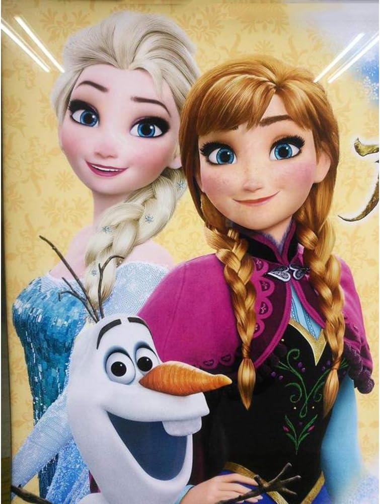 Full Drill Diamond Painting Kit Like Cross Stitch Elsa Anna and Olaf