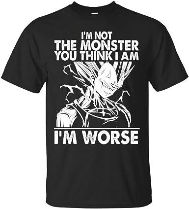 Dragonball z Goku y Vegeta T- No Soy el Monstruo Que Crees Que Soy Camiseta de Vegeta: Amazon.es: Ropa y accesorios
