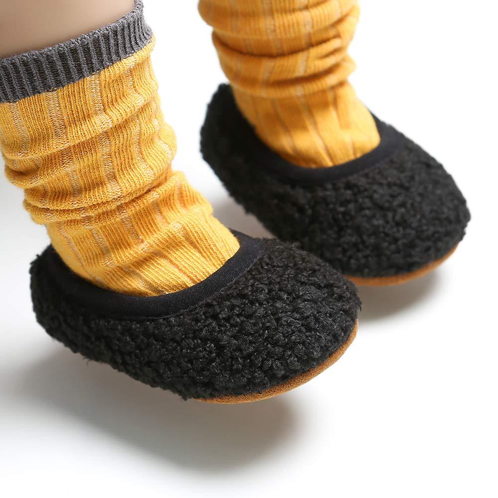 Infant Baby Boys Girls Slipper Non Slip Gripper Socks Stay On Warm Winter Booties Newborn Toddler Crib House Shoes