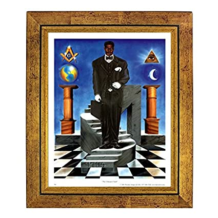 The Ultimate Climb African American Freemason By JAY 10x8 Inches