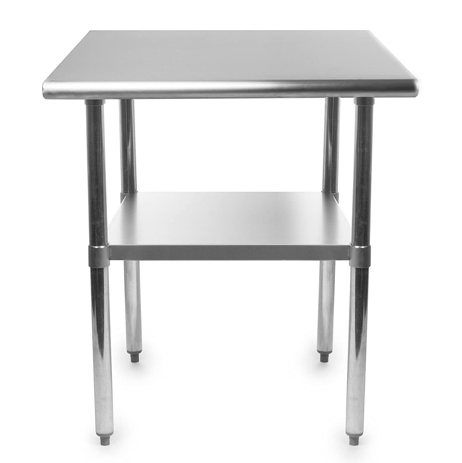Stainless Steel Kitchen Food Prep Work Table 24 x 12 - NSF - Heavy Duty