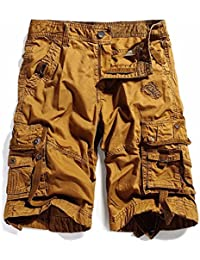 Cotton Twill Army Cargo Multi-Pocket Shorts Outdoor Wear Lightweight