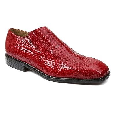 Giorgio Brutini 15521 Mens Plain Toe Slip-On Side Gore,Red,8.5W