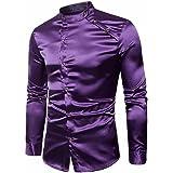 SanKidv-T-Shirts Männer Slim Fit Langarm Casual Taste Formale Top Bluse  Shirt Poloshirts 50641a128a