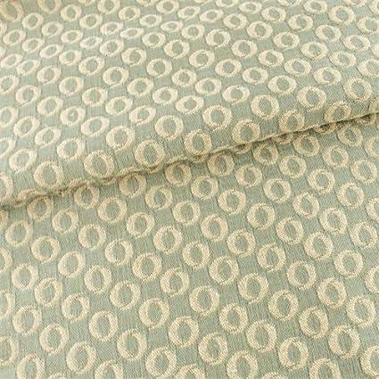 Amazon.com: Bali Green Circle Woven Foulard Upholstery ...