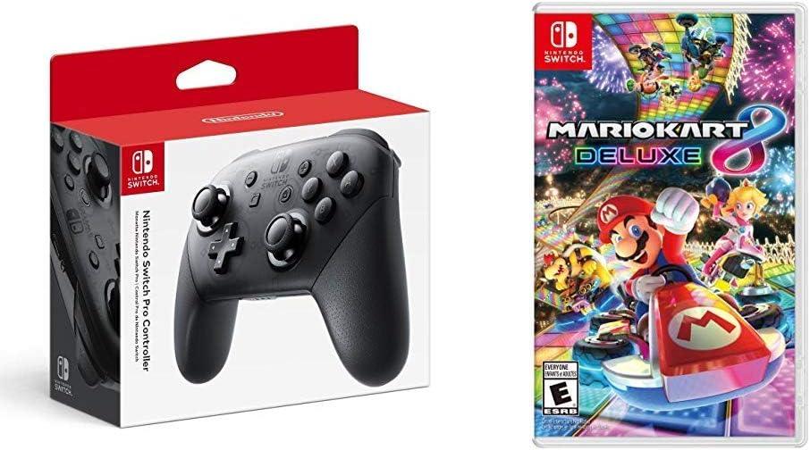 Amazon Com Nintendo Switch Pro Controller Bundle With Mario