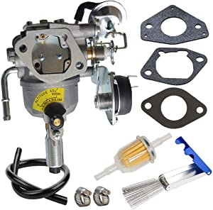 541-0765 Carburetor for Onan 5500 Generator Carb replace 5410765 146-0774 A043B781 0541-0765 141-0983 Grand Marquis Gold Generator with Mounting Gaskets Cleaner Tool Kit Fuel Filter by TOPEMAI