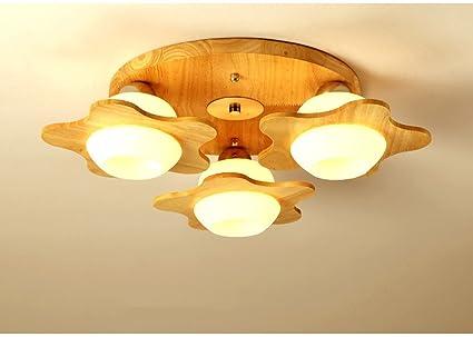 Plafoniere Per Tetto In Legno : Zhdc® soffitto led wood camera nordica dei bambini luce di