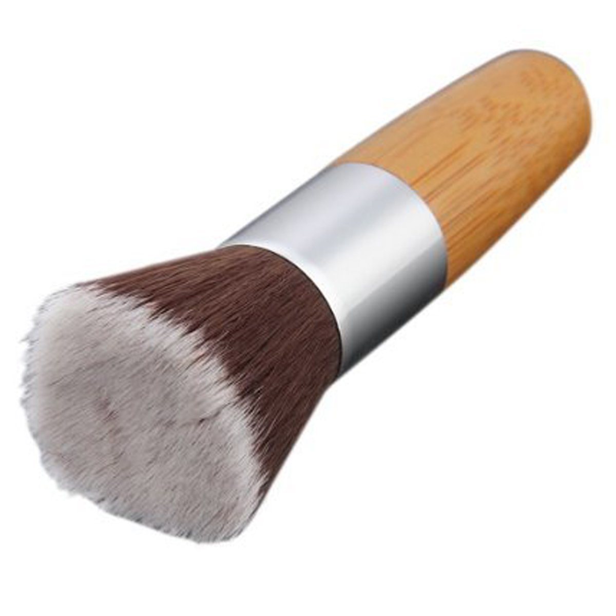 nmber-mm Flat Top in legno di bambù per fondotinta in polvere Bronzer make up Brush