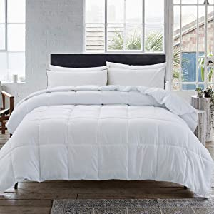 Cosybay Down Alternative Comforter- White Corner Duvet Tabs- Lightweight All Season Duvet Insert-Stand Alone Comforter – King Size(102×90 Inch)