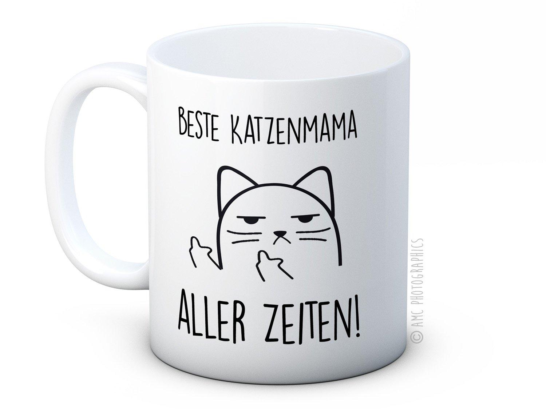 Beste Katzenmama Aller Zeiten. - Taza con diseño de gato de Katze de Unhöliche - Lustig Hochwertigen Kaffeetasse Becher: Amazon.es: Hogar