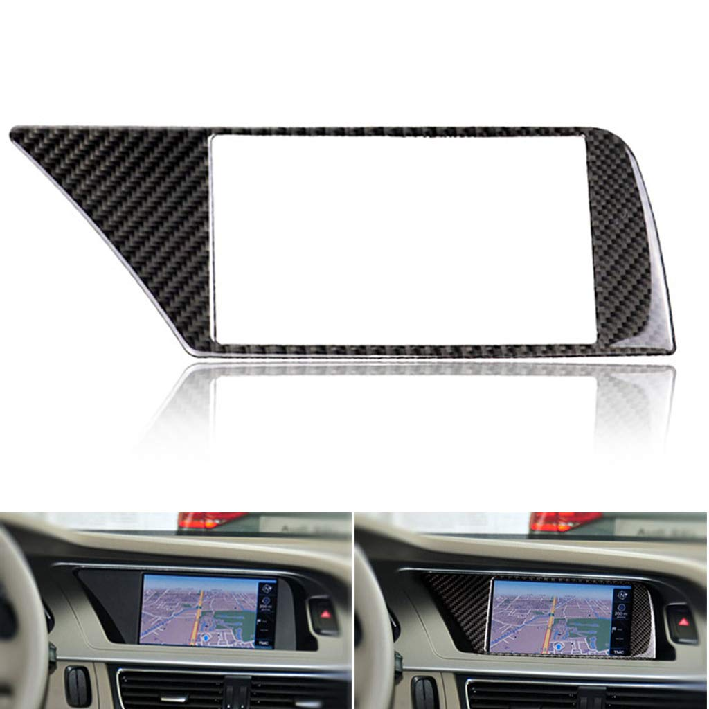 non-brand Auto Kohlefaser Innen GPS Navigationsrahmen Abdeckung f/ür Audi A4 B8 A5 09