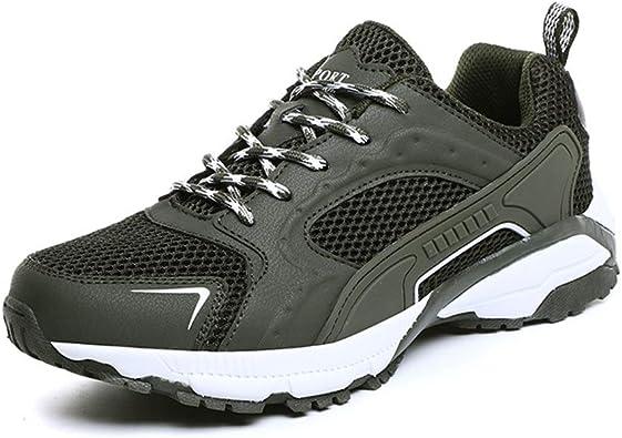 Senderismo zapatos para caminar Elegantes zapatillas deportivas para hombre con cordones Estilo Caminar calzado deportivo Material de malla Moda Suela hueca Zapatillas de deporte ligeras flexibles fle: Amazon.es: Zapatos y complementos