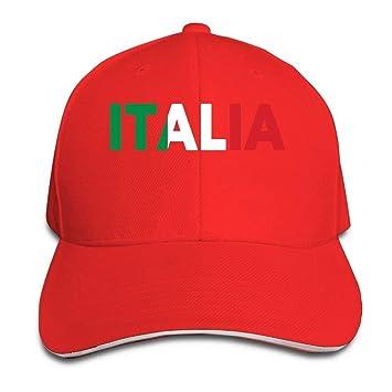 rongxincailiaoke Italia Italy Italian Flag Classic 100% Cotton Hat Caps  Unisex Fashion Baseball Cap Adjustable bdff43e13