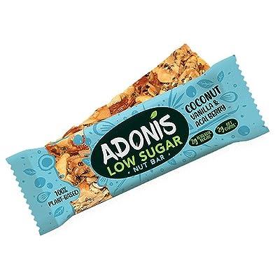 12 x Adonis Natural Low Sugar Vanilla Nut Bar 1.2oz: Grocery & Gourmet Food