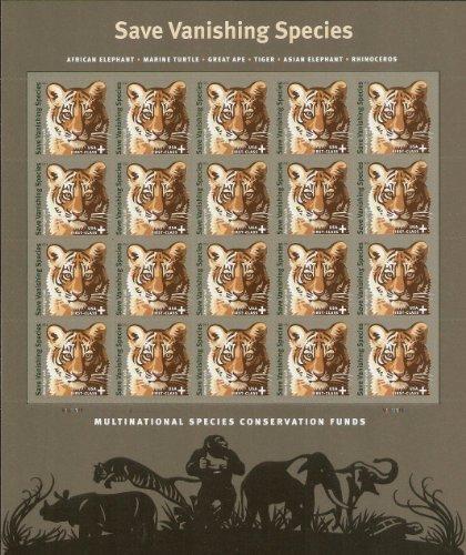 Save Vanishing Species Semi Postal Sheet of Twenty Stamps Scott (Save Postage)
