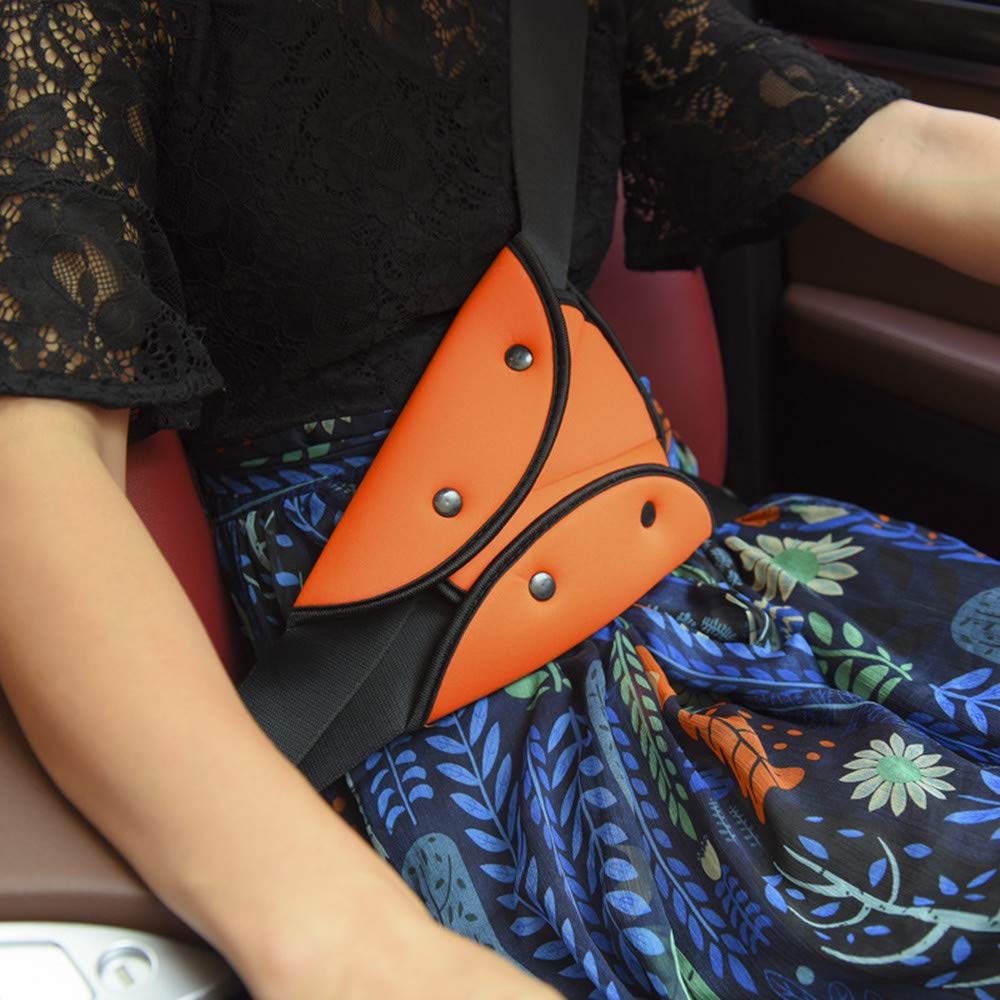 Black JMAHM Auto Breathable Seat Belt Triangle Retainer Pads Shoulder Cover Soft Seat Belt Pillow Anti Neck for kids Protect Shoulder