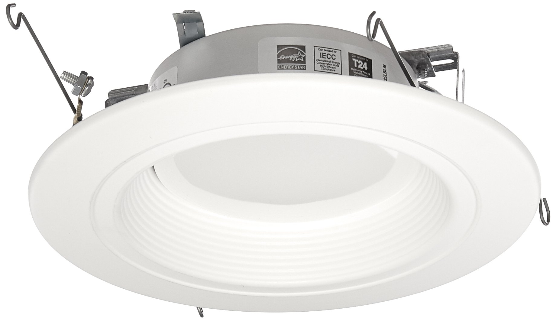 Halo Recessed RL560WH6927 90 CRI 2700K LED Retrofit with White Trim, 5''/6'', Warm White by Halo