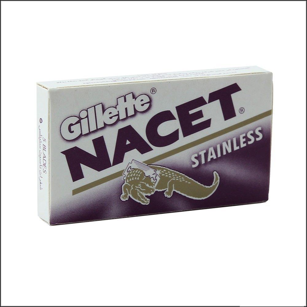 25 NACET STAINLESS Double Edge Razor Blades