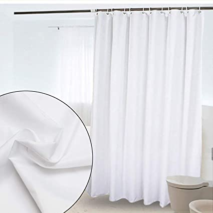 Creative Home Ideas Ombre Textured Shower Curtain With Beaded Rings Chocolate