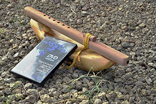 Windpony key of G 6-hole unfinished Cedar Native American Style Flute with DVD
