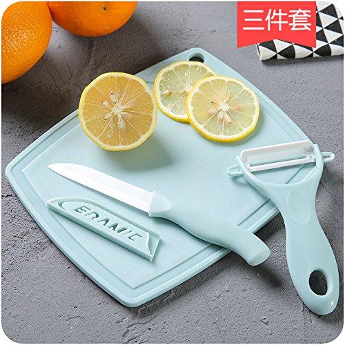 ShouYu cocina de la cerámica cuchillos 3-tlg. Corte de papel ...
