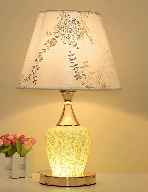 Einfache Tischlampe, dekorative Stoff-Tischlampe, Schlafzimmer, die Nachttischlampe einzieht