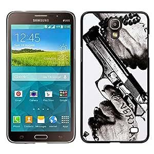 Impact Case Cover with Art Pattern Designs FOR Samsung Galaxy Mega 2 Veritas Gun Truth Slogan Quote Man Hands Betty shop