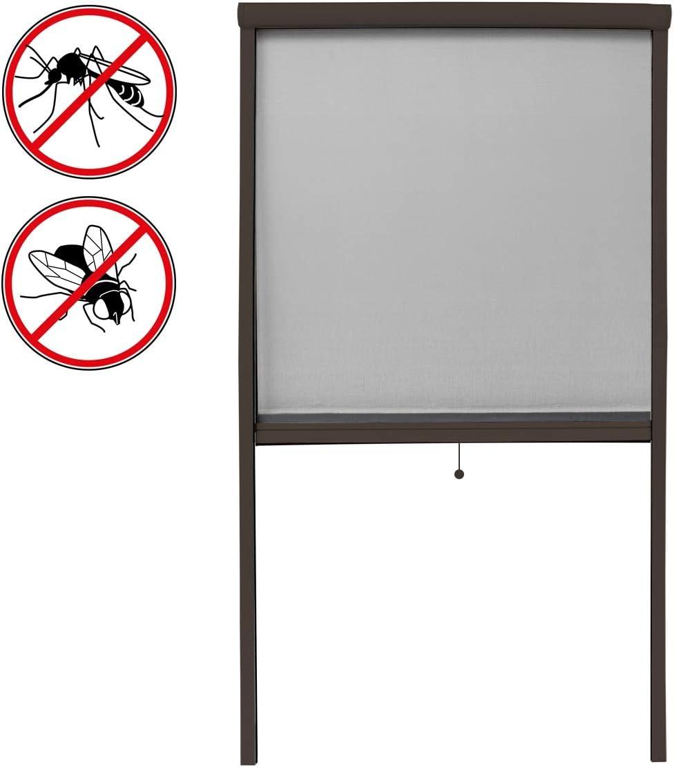 Cortina mosquitera Mosquitera de Cuatro rieles de Rejilla Blanca Protecci/ón Anti-Insectos ECD Germany Mosquitera para Puertas Poliester 90 x 160cm
