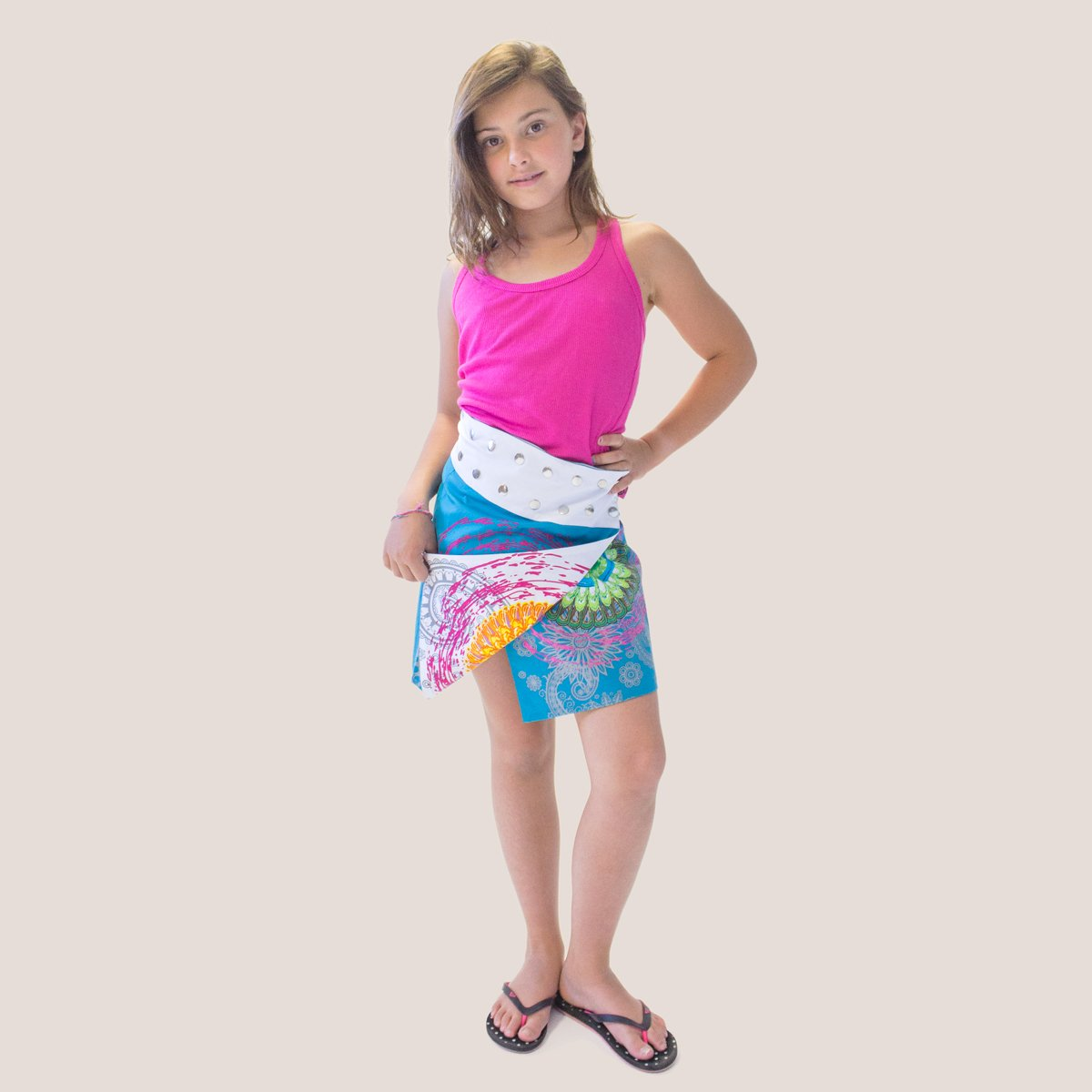 Coton Du Monde-Falda reversible 16 años, blanco y azul: Amazon.es ...