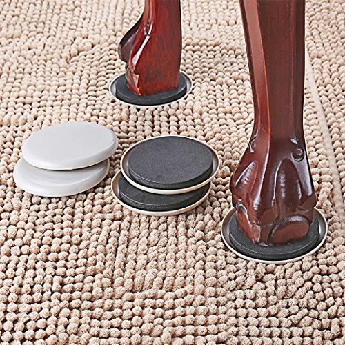 16 PCS Furniture Sliders For Carpet 3.5 Inch Diameter Furniture Movers Easy For Moving Furnitures Furniture Moving Pads For Carpet by K-PROTECTOR (Image #2)