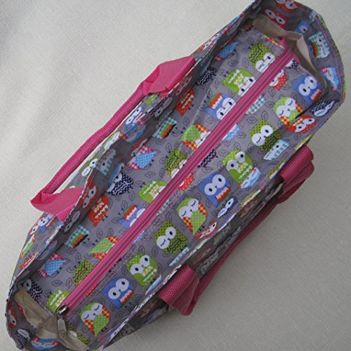 Grey Very and cleanable Floral Bag wipe Knitting Beach strong Silver Owls handbag Bag SWFaIFfY7q