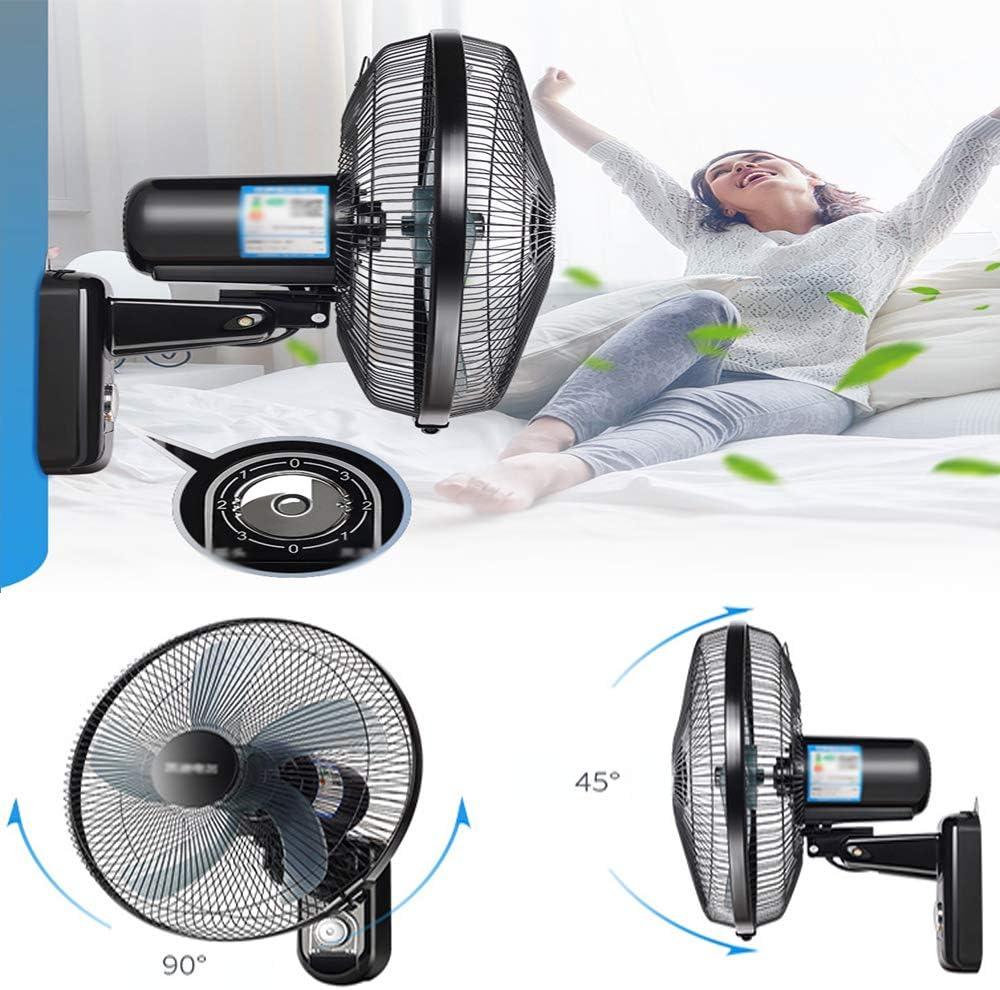 58w Home//Office//Industriel Ventilateur Silencieux Wall Fan ALY/® Ventilateur Mural Oscillant M/éCanique 90 /° Grand Angle Ventilateur De Refroidissement De LAir De LAir