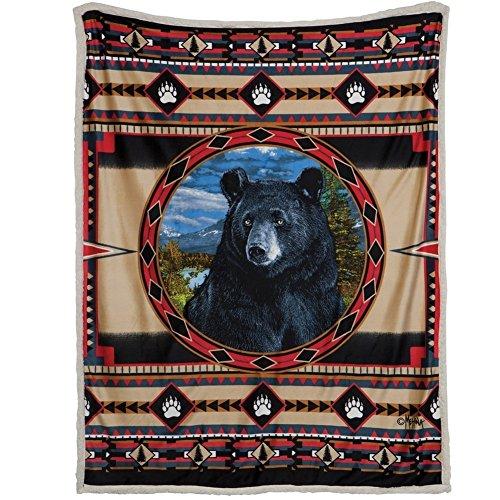 Bear Ridge Sherpa Fleece Throw