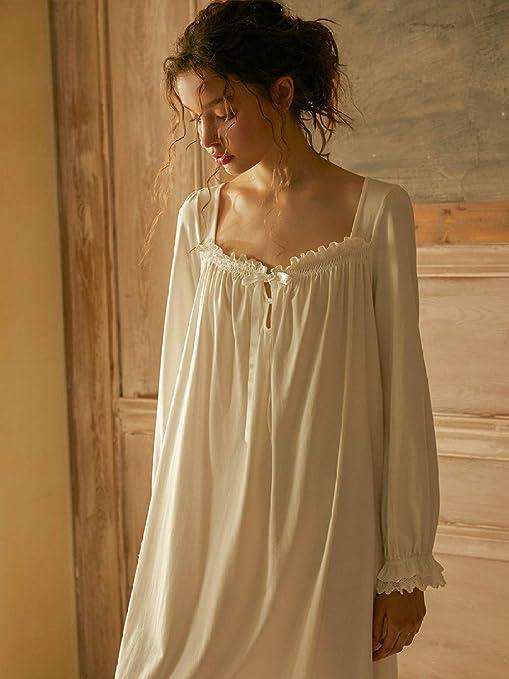 YPDM Bata,Camisones Camisa de Dormir Mujer Otoño Manga Larga Ropa ...