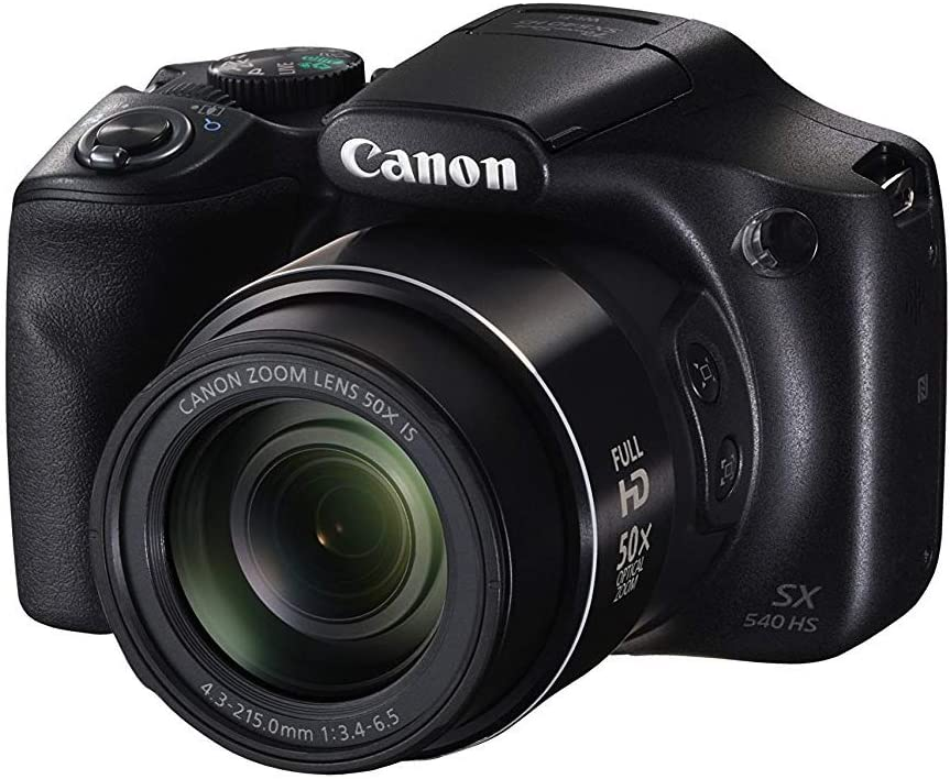 Canon PowerShot SX540 HS with 50x Optical Zoom and Built-in Wi-Fi, Polaroid 32 GB U3 Memory Card, Tripod, Spare Battery, Camera Bag and Accessory ...