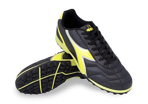 Diadora Men's Capitano TF Turf Soccer Shoes (11, Black/Yellow)
