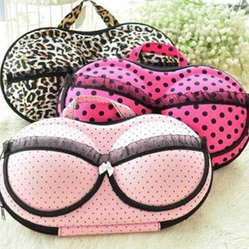 L-Zone Sexy Lace Pink Dot Closet Organizers Bra Underwear Storage Box