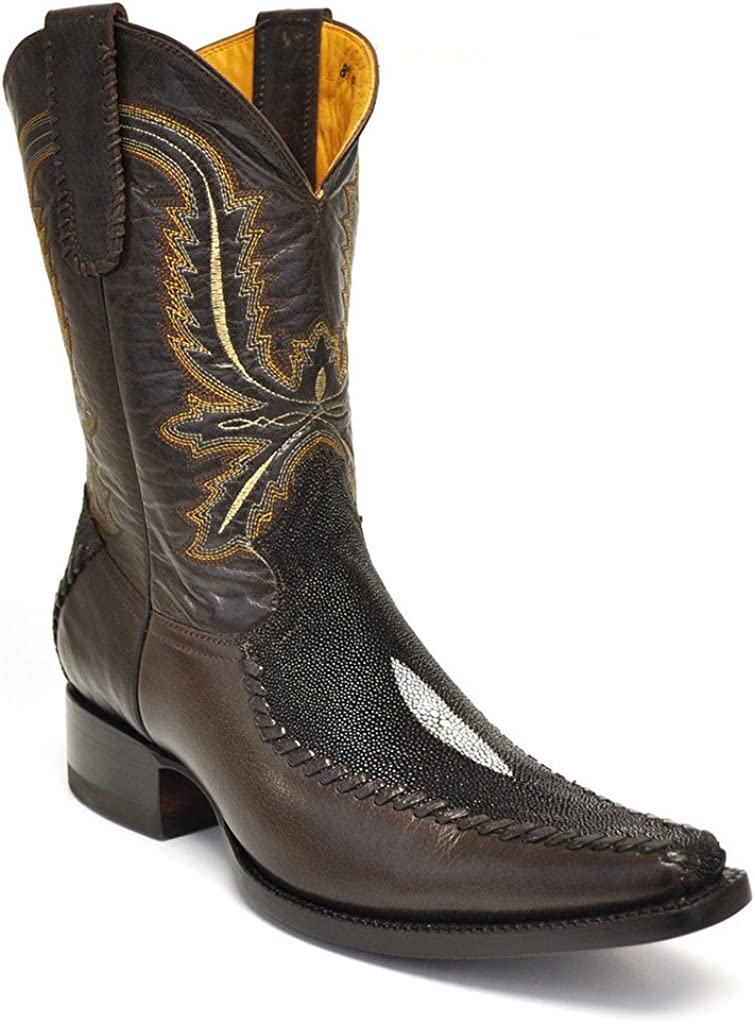 Gavel Mens Handmade Genuine Stingray Spanish Toe Cowboy Boots
